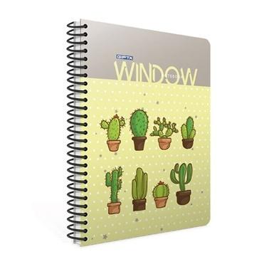 Gıpta  Window A4 Çizgili 80 Yaprak Defter  Renkli